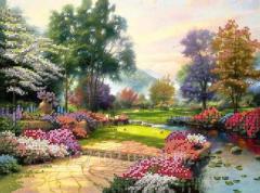 Схема для вышивки бисером Цветущий парк 3 Код