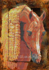 The scheme for beadwork the Red horse S-048