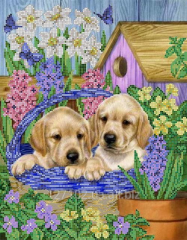 The scheme for beadwork Puppies in the S-153