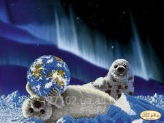 The scheme for beadwork Seals. Let's rescue