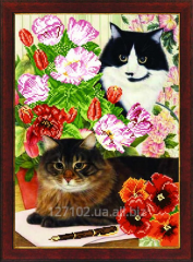 The scheme for beadwork Flower cats SB-263 Product
