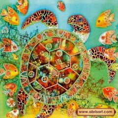 The scheme for beadwork the Sea turtle AS-479
