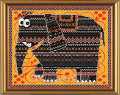 The scheme for beadwork of Shango the Product code