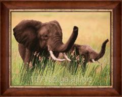 The scheme for beadwork Elephants SB-148 Product