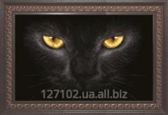 The scheme for beadwork the Black cat SB-159