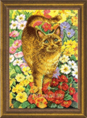 The scheme for beadwork the Red cat in the SB-181