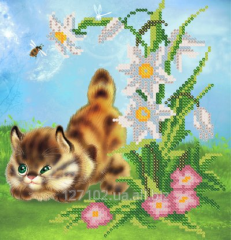The scheme for beadwork the Fluffy hunter the