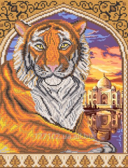 The scheme for beadwork the Tiger in arch RKP-258
