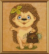 Set for creativity the Hedgehog with a portfolio
