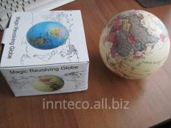 The rotating globe with illumination