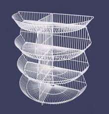 To get racks in shops, metal racks for trade in