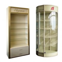 Show-windows for drugstores, the equipment for