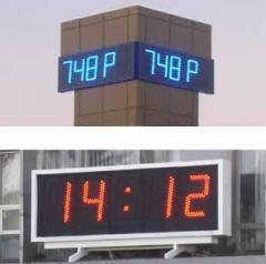 Часы наружные, часы для улиц, часы светодиодные