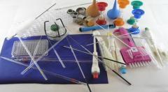 Микробиологические принадлежности в большом ассортименте : петли нихромовые, ватная пробка, петледержатели, пробка резиновая, биотесты для контроля стерильности и другие