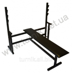 Bench and racks for a press with Hercules