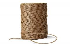 Jute twine. The twine is on sale in reels on 0,25