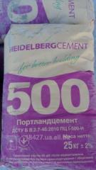 Портландцемент ПЦ І 500, завод.упаковка
