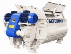 The concrete mixer two-shaft BP-2G-4500 volume is