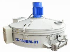 The concrete mixer of forced action SB-138BM