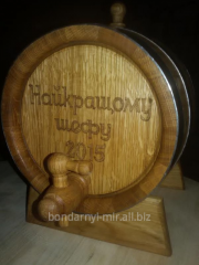 Keg with a carving, woodcarving, gift registration