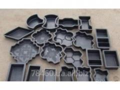 Форми для виготовлення тротуарної плитки методом
