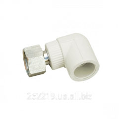 Corner 90 ° with an insert and a cap nut from