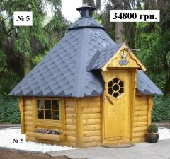 № 5   Гриль домик 3 м. диагональ  (6 м.2)
