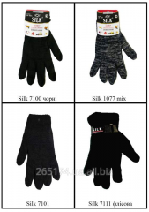 Working gloves from polyester