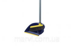 Brush and scoop with the long handle, a se