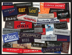 The labels embroidered textile, computer