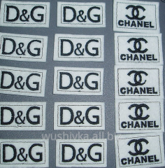 The labels embroidered under the order