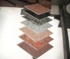 Tiles are facing granite polished, polished, with