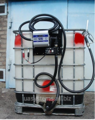 The mobile filling module with the pump for diesel
