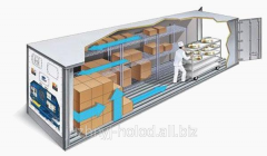Refrigerating warehouse on base of the sea