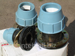 Connector flange blooming for polyethylene pipes