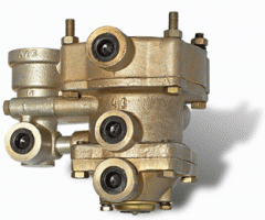 The valve of management of trailer brakes with the