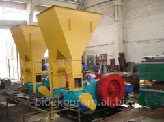 Press for briquettes. Equipment for production of