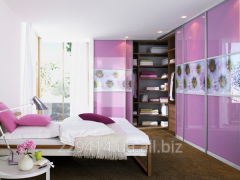 Bright furniture in a bedroom to order cheap