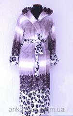 Халат махровый женский Леопардовая абстракция