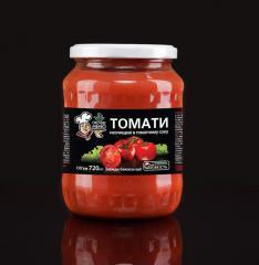 TOMATOES crude in tomato juice (sterilized)