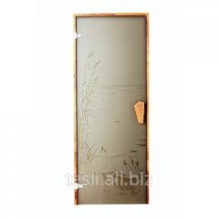 """Glass door for a sauna and a hammam """"Swan"""