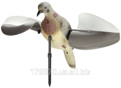 Turtle-dove effigy with the wings of MOJO 3-D Wind Dove Decoy turning from wind