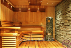 Saunas wooden on a turn-key basis.