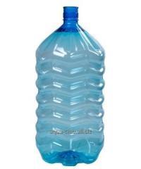 Large bottle of 19 l of PET