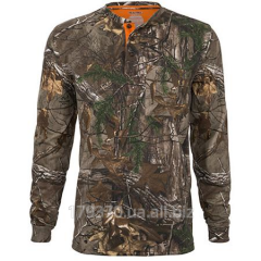 Футболка охотничья Realtree Xtra Men's Olive Long Sleeve Henley Tee