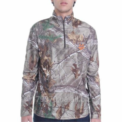 Raglan hunting Realtree and Mossy Oak Men's Performance 1/4 Zip Top