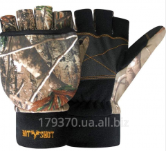 Gloves hunting Jacob Ash Hot Shot Fingerless Gloves with Pop-Top Mitten