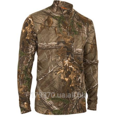 T-shirt hunting with neck of Realtree Xtra Men's Olive Mockneck Long Sleeve Tee
