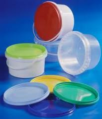 Container plastic for foodstuff (transparent)