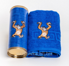 Towels gift with an embroidery under the order
